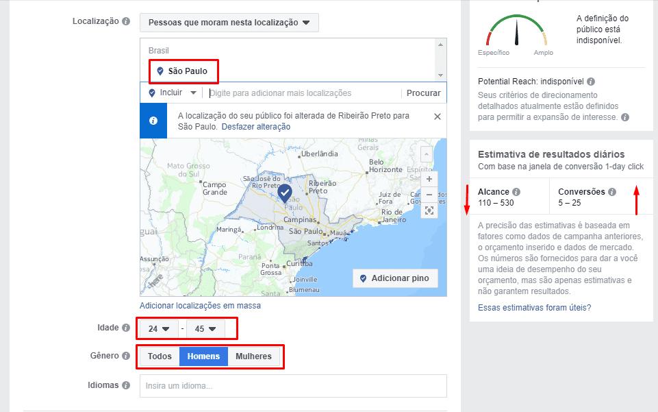 facebook business, anuncios no facebook, definicação de publico, publico alvo, segmentação, segmentação de público, persona